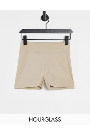 ASOS Hourglass booty short with bum ruche detail-Neutral