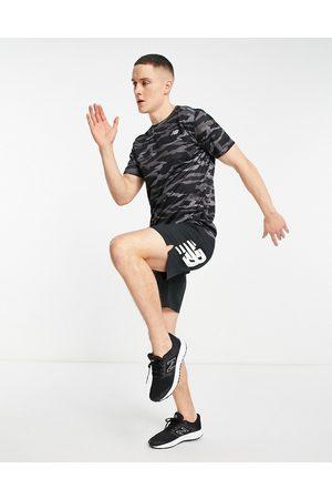 New Balance Running accelerate t-shirt in camo