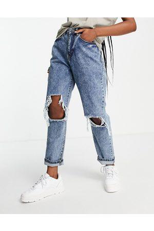 I saw it first Distressed straight leg jean in