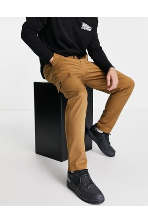 SELECTED Slim tapered cargo trousers in tan