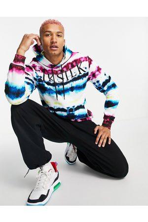 SikSilk Tie dye hoodie in multi