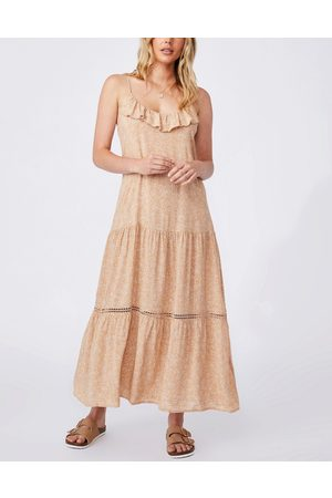 Cotton:On Tiered maxi dress in natural ditsy floral-Multi