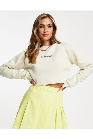 Ellesse Cropped sweatshirt in oatmeal-Neutral