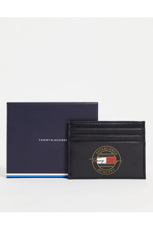Tommy Hilfiger Leather cardholder with signature logo in