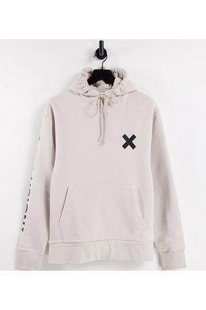 COLLUSION Sweatshirts - Unisex logo hoodie in off