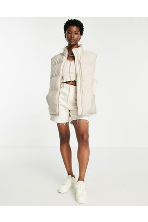 Weekday Women Camisoles - Layer recycled padded vest in mole-Neutral