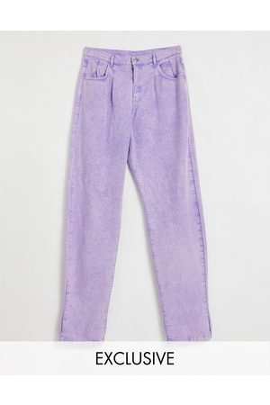Reclaimed Inspired '83 unisex relaxed fit jean in lilac