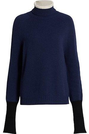 Majestic Filatures Colorblock Turtleneck Sweater