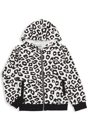 Mia Girls Hoodies - Girl's Leopard-Print Hoodie