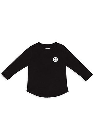 Miles and Milan Girls Long Sleeve - Baby's & Little Girl's Long Sleeve Signature Patch T-Shirt