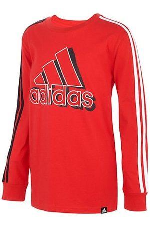 adidas Little Boy's & Boy's Logo Stripes Long Sleeve T-Shirt