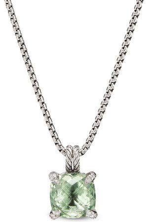 David Yurman Sterling silver Châtelaine quartz and diamond pendant necklace