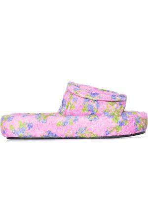 Natasha Zinko Women Sandals - Floral-embroidered slides