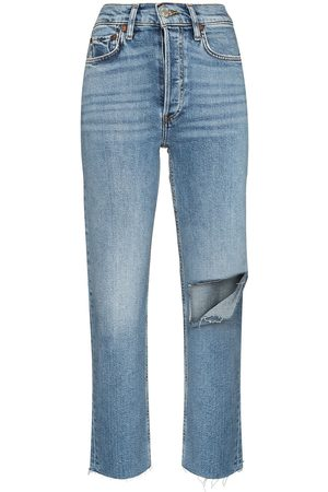 RE/DONE Stove Pipe high-waisted jeans