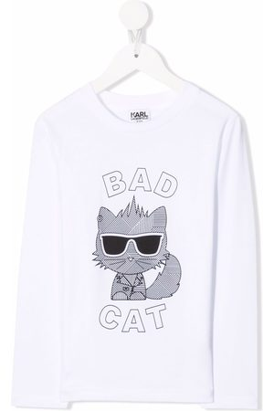 Karl Lagerfeld Bad Cat jersey top