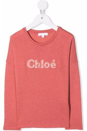 Chloé Girls Sweatshirts - Logo-print sweatshirt