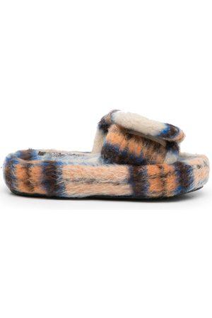 Natasha Zinko Check-print Volume slippers