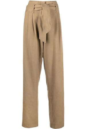 FORTE FORTE Tie-front high-waisted trousers