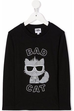 Karl Lagerfeld Bad Cat long-sleeve top