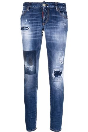 Dsquared2 Paint-splatter ripped jeans