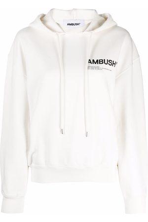 AMBUSH Women Hoodies - Logo-print drawstring hoodie
