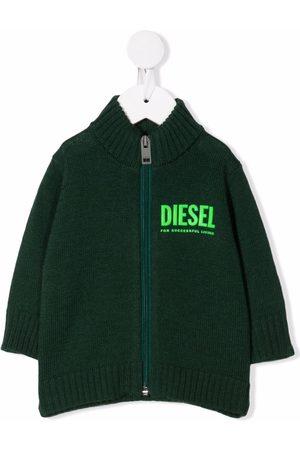 Diesel Baby Jumpers - Logo high-neck jumper