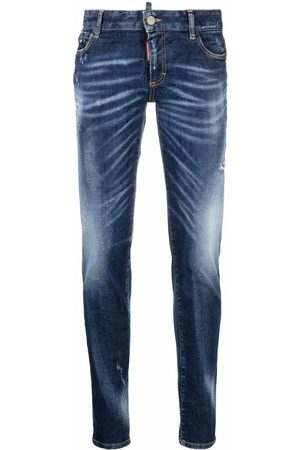 Dsquared2 Women Skinny - Distressed faded skinny jeans