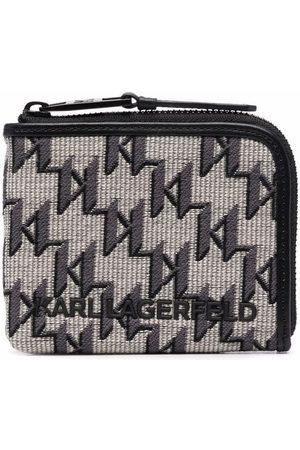 Karl Lagerfeld K/Monogram jacquard zipped wallet