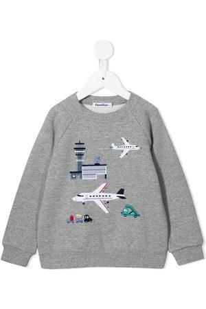 Familiar Boys Sweatshirts - Airport-motif cotton sweatshirt