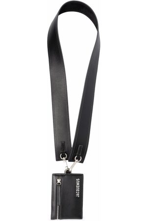 Jacquemus Men Wallets - Logo-plaque lanyard cardholder