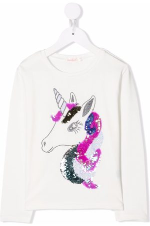 Billieblush Sequin unicorn print T-shirt