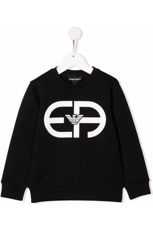 Emporio Armani Boys Sweatshirts - Logo-print cotton-blend sweatshirt