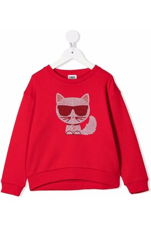 Karl Lagerfeld Girls Sweatshirts - Embellished-Chaupette sweatshirt