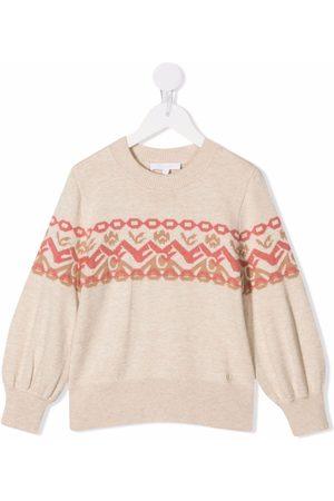 Chloé Fine-knit logo jumper