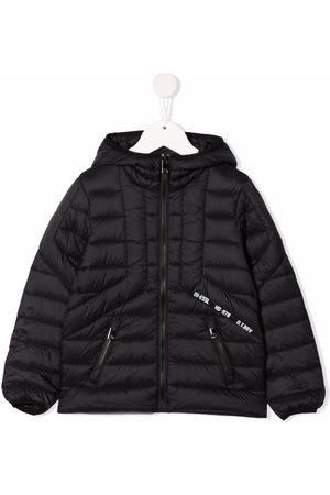 Diesel Girls Hoodies - Hooded zip-up padded jacket