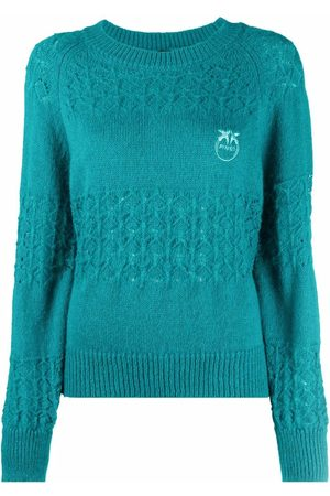 Pinko Women Jumpers - Embroidered-logo knitted jumper