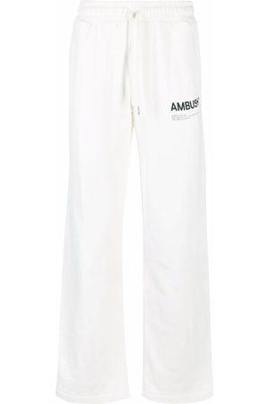 AMBUSH Logo-print fleece track pants