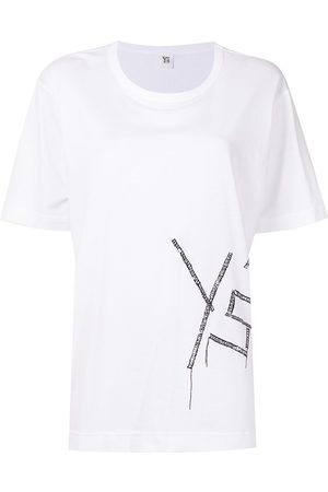 Y'S Women Short Sleeve - Embroidered Fire-print short-sleeve T-shirt