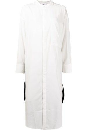 Y'S Women Tops - Colour-block panelled longline shirt