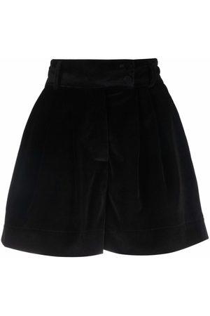 Styland High-waisted velour shorts