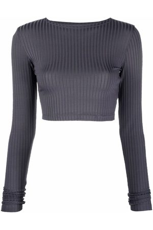 Styland Women Crop Tops - Ribbed-knit cropped top