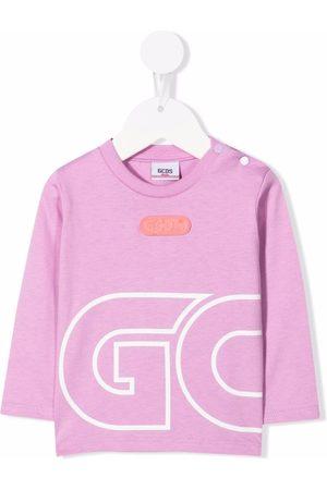 GCDS Baby Long Sleeve - Logo-print long-sleeve top