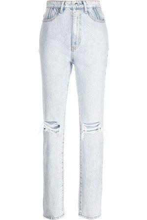 Alexander Wang Women Straight - Distressed-effect jeans