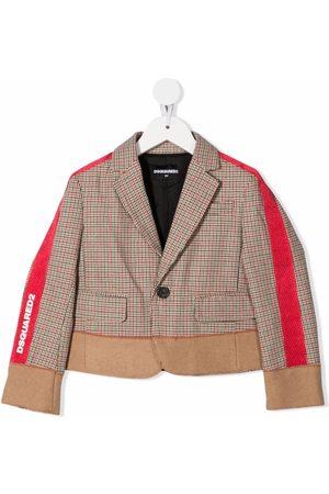 Dsquared2 Girls Blazers - Side-stripe print jacket