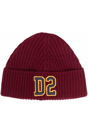 Dsquared2 Logo-patch ribbed-knit hat