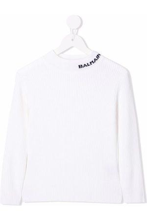 Balmain Logo print jumper