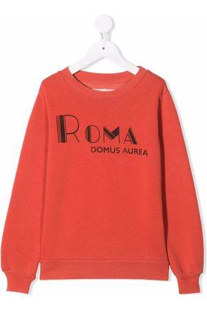 The Animals Observatory Boys Sweatshirts - Roma lettering print sweatshirt