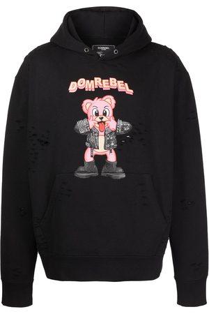 DOMREBEL Men Jumpers - Punk Bear pullover hoodie