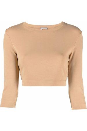 12 STOREEZ Women Long Sleeve - Cropped long-sleeved top