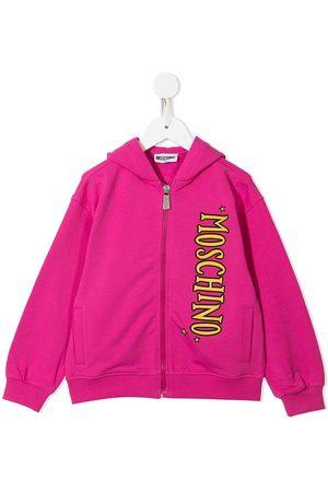 Moschino Logo-print zipped hoodie